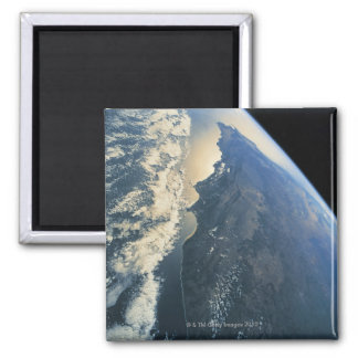 Earth from Space 11 Square Magnet