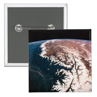 Earth from Space 14 15 Cm Square Badge