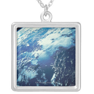 Earth from Space 16 Silver Plated Necklace