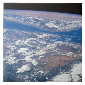 Earth from Space 19 Large Square Tile