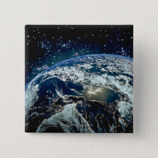 Earth from Space 20 15 Cm Square Badge