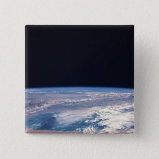 Earth from Space 21 15 Cm Square Badge