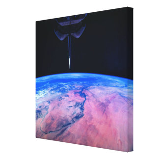 Earth from Space 22 Stretched Canvas Print