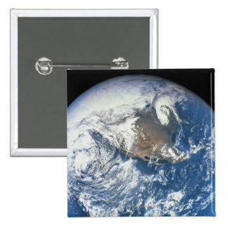 Earth from Space 28 15 Cm Square Badge