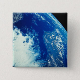 Earth from Space 34 15 Cm Square Badge