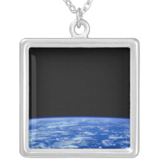 Earth from Space 3 Silver Plated Necklace