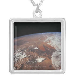 Earth from Space 4 Square Pendant Necklace