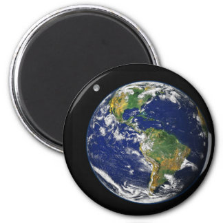 Earth from space 6 cm round magnet