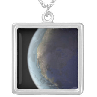 Earth from Space 6 Silver Plated Necklace