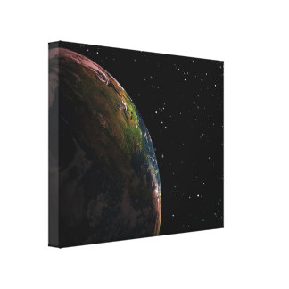 Earth from Space Canvas Prints