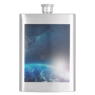 EARTH FROM SPACE HIP FLASKS
