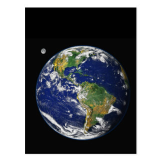 Earth from space postcard