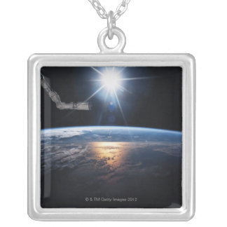 Earth from Space Shuttle 2 Silver Plated Necklace