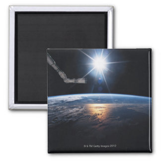 Earth from Space Shuttle 2 Square Magnet