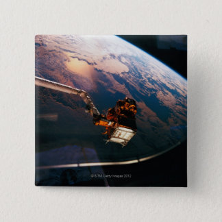 Earth from Space Shuttle 3 15 Cm Square Badge