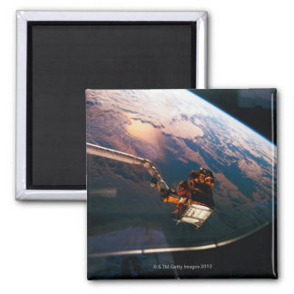 Earth from Space Shuttle 3 Square Magnet