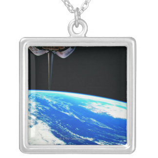 Earth from Space Shuttle 4 Silver Plated Necklace