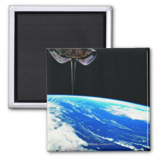 Earth from Space Shuttle 4 Square Magnet