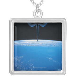 Earth from Space Shuttle Silver Plated Necklace