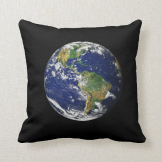 Earth From Space Throw Cushions