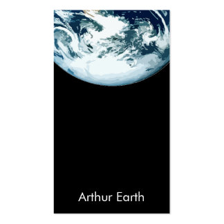 Earth from Space w QR Code Business Card