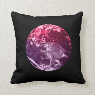 Earth From Space - Watercolor Throw Pillow