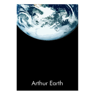 Earth from Space Wide Card Pack Of Chubby Business Cards