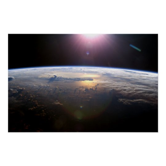 Earth from the International Space Station Poster