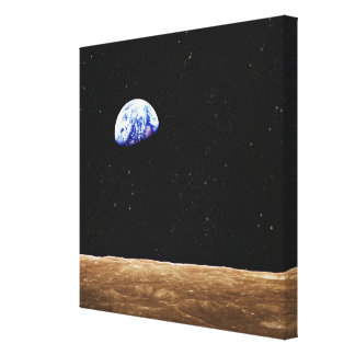 Earth from the Moons Surface Canvas Print