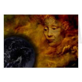 Earth Gaia Environment Digital Collage Notecard Greeting Card
