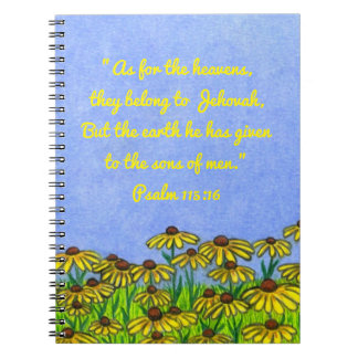 Earth given to sons of men ~ Scripture Notebook