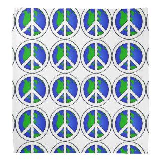 Earth Global Peace Sign  Bandanna