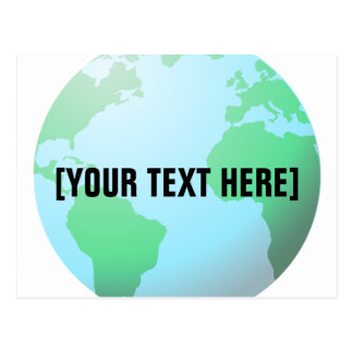Earth Globe Background Custom Text Postcard