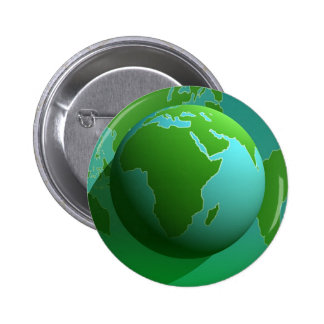 Earth Globe 6 Cm Round Badge