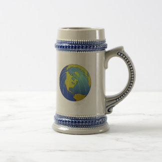 Earth Globe Beer Stein
