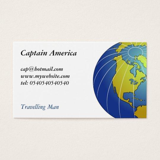 Earth Globe Business Card