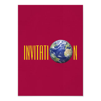 Earth Globe Invitation