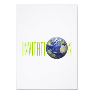 Earth Globe Invitation