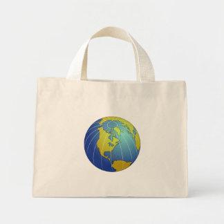 Earth Globe Mini Tote Bag