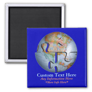 Earth Globe Puzzle, Lots Of Concepts Magnet