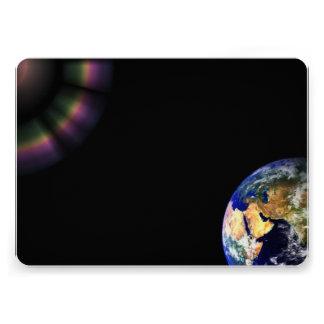 Earth Globe Space Personalized Invite