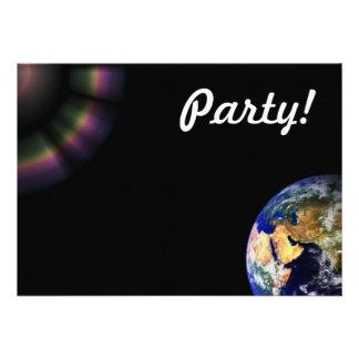 Earth Globe Space Custom Announcements