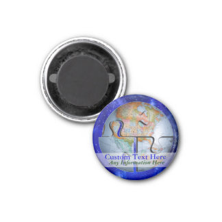 Earth Globe World Puzzle Magnet