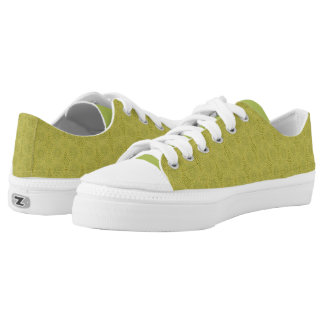 Earth Green - low top shoes Printed Shoes