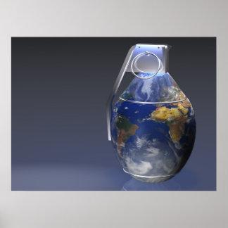Earth Grenade Print