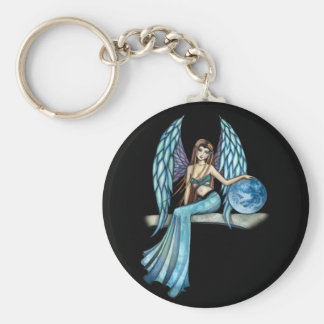 Earth Guardian Angel Fairy Basic Round Button Key Ring