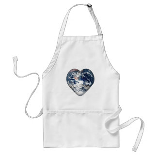 Earth Heart (Add Background Color) Adult Apron