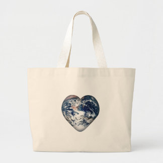 Earth Heart (Add Background Color) Canvas Bags