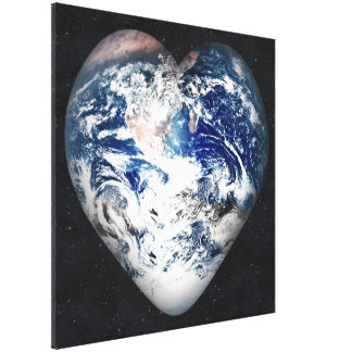 Earth Heart Stretched Canvas Print