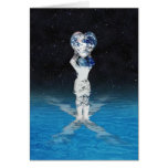 Earth Heart Holder (With Water) Greeting Cards
